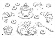 Coffee and breakfast royalty free stock images