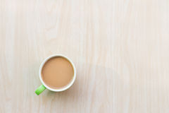 Coffee Breakfast in the morning. On an copy space. The Creative modern Business top view Royalty Free Stock Photo