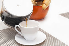 Coffee and breakfast Stock Photography