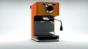 Coffee Brewer. In orange look royalty free illustration