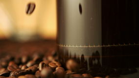 Coffee brewing in french press stock video