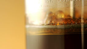 Coffee brewing in french press stock footage
