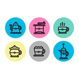 Coffee brewing icon set. Beautiful coffee brewing icon set , eps 10 ready. easy use and editable