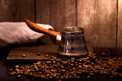 Coffee brewing pot Royalty Free Stock Photos