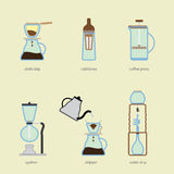 Coffee brewing Stock Images