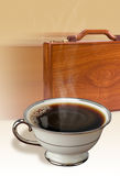 Coffee and briefcase Royalty Free Stock Image