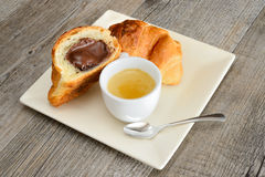 Coffee and brioches Stock Photography