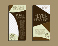 Coffee Brochure Flyer design Layout template Royalty Free Stock Photo