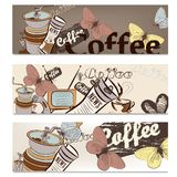 Coffee brochure set for design Stock Photo