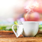 Coffee in broken cup Stock Images