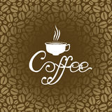 Coffee brown background Royalty Free Stock Images