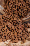 Coffee brown. Granular on a table Stock Image