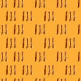 Coffee brown hand-painted stripes seamless background Stock Photography