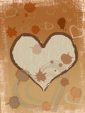 Coffee brown heart Royalty Free Stock Photos