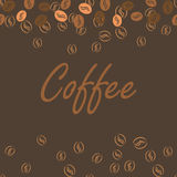 Coffee brown poster print for cards, bar drink Royalty Free Stock Photo