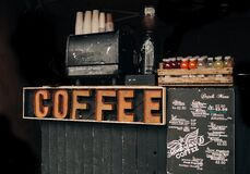 Coffee Brown Signage Royalty Free Stock Image