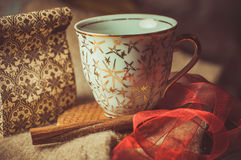 Coffee. Brown spices, cinnamon sticks, food Royalty Free Stock Image