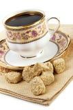 Coffee and brown sugar Stock Photo
