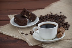 Coffee and brownies Royalty Free Stock Image