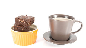 Coffee with brownies Stock Images