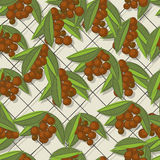 Coffee brunch pattern Royalty Free Stock Photo