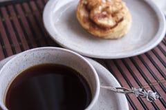 Coffee and bun Stock Photo