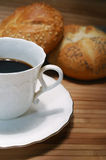 Coffee and buns Royalty Free Stock Photos
