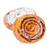 Coffee Buns Cakes isolated Royalty Free Stock Image