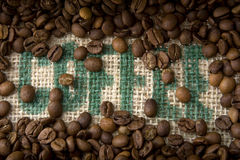 Coffee Burlap Royalty Free Stock Image