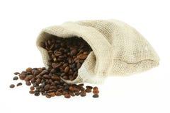 Coffee in burlap sack #3 royalty free stock image