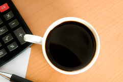 Coffee and business accessories Stock Photos