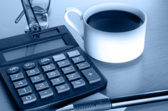Coffee and business accessories Royalty Free Stock Photography