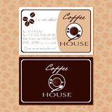 Coffee business cards for your design Stock Photo