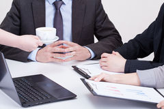 Coffee on business meeting Royalty Free Stock Images
