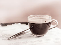 Coffee at business meetings Royalty Free Stock Image
