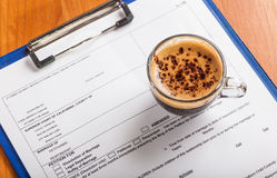 Coffee during business meetings. Traditional drink royalty free stock photography