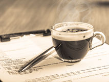Coffee at business meetings. Traditional drink royalty free stock images