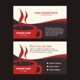 Coffee business name card template with new design Stock Photography