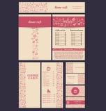 Coffee business set. Set design on a coffee theme. Business cards, brochures, menus, banner. Vector illustration Vector Illustration