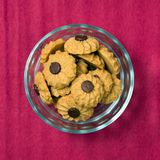 Coffee butter chocolate chip cookie Stock Photos