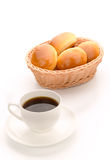 Coffee with butter rolls Royalty Free Stock Photography