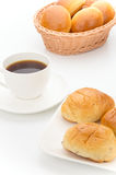 Coffee with butter rolls Royalty Free Stock Images