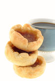 Coffee and Butter Tarts Royalty Free Stock Image