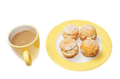 Coffee and butterfly buns Stock Photo