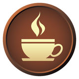 Coffee button Stock Image