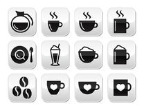 Coffee buttons set -  Stock Photography