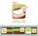 Coffee Cafe business cards. Royalty Free Stock Images