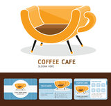 Coffee Cafe business cards. Royalty Free Stock Image