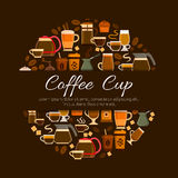 Coffee cafe or cafeteria menu vector poster Royalty Free Stock Image