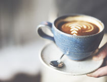 Coffee Cafe Caffeine Cappuccino Freshness Cup Concept Stock Images